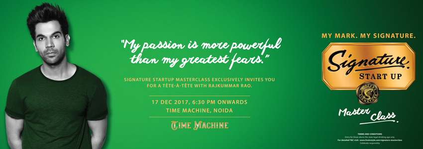 Signature Start Up Masterclass: Rajkummar Rao