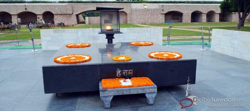 Rajghat – A memorial to Mahatma Gandhi